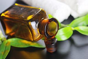 Spa bottle green cloth